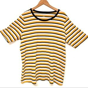 SOLD - Duluth Trading Women's Striped Plus T-shirt